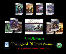 R.A. Salvatore THE LEGEND OF DRIZZT Volume #1 ~ MP3 CD 10 Disc Set ~ UNABRIDGED
