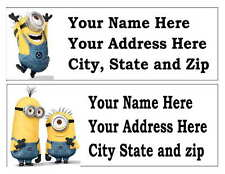 30 DESPICABLE ME MINIONS RETURN ADDRESS LABELS MANY CHOICES