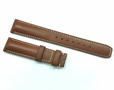 New Baume Mercier 18mm Brown Smooth Calf Skin Genuine Leather Band Watch Strap