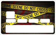 SCENE DE CRIME FBI POLICE CARTE BANCAIRE CREDIT CARD CB SKIN AUTOCOLLANT CC098