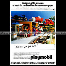 PLAYMOBIL 'La Gare et le Train' 1981 - Pub Publicité / Original Advert Ad #1121