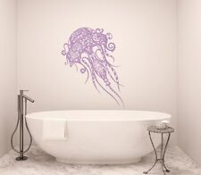 Jellyfish Wall Decal Bathroom Sea Jelly Decal Bohemian Vinyl Stickers Boho T180