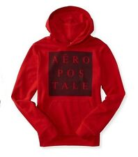 BNWT Aeropostale block Logo Pullover Hoodie Jacket - Red Sky - Medium#