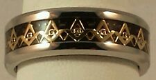 Freemason Circle of Light Ring With Gold Square and Compass (size 9)