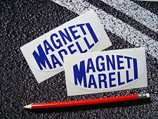 2 X MAGNETI MARELLI STICKERS 11 1/2cm x 5 1/2cm  f1 LEMANS  MOTORSPORT RALLY