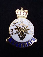 HM Armed Forces Veteran Military Lapel Pin Badge ARMY,GUARDS,PARA,RAF,RN,RM,SBS