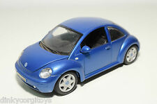 MAISTO VW VOLKSWAGEN NEW BEETLE KAFER METALLIC BLUE NEAR MINT CONDITION