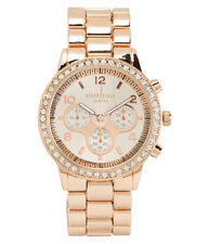 aeropostale womens metal boyfriend watch rose gold