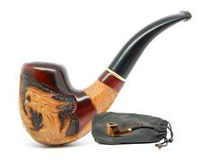 "HAND CARVED, EXCLUSIVE REAL SMOKING PIPE PEAR  "" Dragon ""   Perfect Gifts"