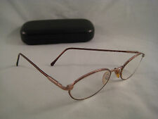 SFEROFLEX Rx Eyeglasses Tortoise Shell Gold Metal Oval Eye Glass Frame +Case