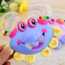 1X Kids Baby Crab Design Handbell Musical Instrument Jingle Shaking Rattle Toy E