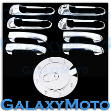 99-04 JEEP GRAND CHEROKEE Triple Chrome 4 Door Handle W/O PSG Keyhole+GAS Cover