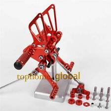 CNC Red Adjusting Rearset Footpegs Rear Set For Ducati 848 1098 1198 R/S