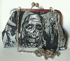 WALKING DEAD ZOMBIE HORROR  HANDMADE HANDBAG CLUTCH PROM PARTY  BY GEEK BOUTIQUE