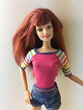 Mattel Barbie Doll Red Head Bangs Green Eyes Jointed Articulate for OOAK 1998