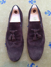 Gucci Men's Shoes Brown Suede Tassel Loafers UK 11 US 12 45 Made in Italy