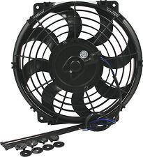 "ELECTRIC COOLING FAN 14""CURVED BLADES 1530 CFM PULLER/PUSHER DERALE SPAL HOT ROD"