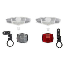 Sunlite Deluxe Bicycle 4-Pack Reflector Kit Front & Rear 2 Wheels