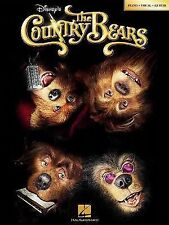 Disney's - The Country Bears (2002, Paperback) Songbook Sheet Music Song Book