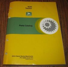 Original John Deere 3640 Tractor Parts Catalog Manual Book  PC4200 Germany 1987