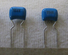 100 NOS .15uF 0.15uF 50V  Volt 5% polyester stacked film capacitors guitar tone