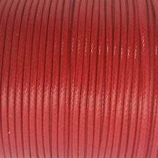 5 YARDS - 2MM Bright Red Woven Braided Waxed Cotton Cording Trim #27