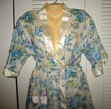 NEW - NEW - LEISURE LIFE  LIGHTWEIGHT COTTON/POLY WRAP ROBE- MADE IN U.S.A. - S