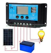New 20A 12V/24V Solar Charge Controller Cell Battery Panel Regulator Switch