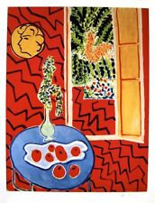 HENRI MATISSE HAND SIGNED SIGNATURE * INTERIEUR ROUGE * HELIOLITHO W/ C.O.A.