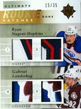RC /35 RYAN NUGENT HOPKINS LANDESKOG UD ULTIMATE rookie DUOS PATCHES 2011 11 12