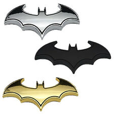 Car 3D Metal bat auto logo car sticker metal batman badge emblem Silver cool