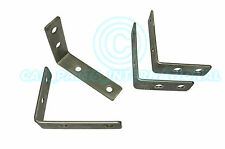 4x SMALL Trailer mudguard MOUNTING BRACKETS Stainless Steel Pre drilled 10 x 8cm