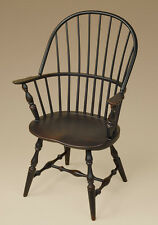 Sack-Back Windsor Arm Chair - Black - Dining or Kitchen Armchair - Furniture