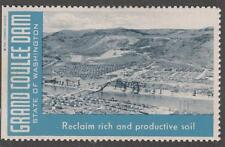 Washington State Grand Coulee Dam Reclaim Soil Cinderella Poster stamp