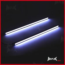 8 Inch Universal Slim COB LED White Daytime Running LIghts - Black Alloy Housing