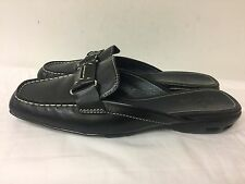 Cole Haan Nike Air Black Leather Slip-on Flats 9B