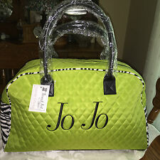 "Weekender Duffel Bag Lime Green/Zebra Quilted easy care microfier ""Personalized"""