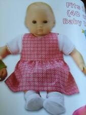 "Kwik Sew Sewing Patterns 3834 16"" 40cm Baby Doll Clothes Romper Dress New"