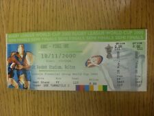 18/11/2000 Ticket: Rugby League - World Cup Semi-Final - New Zealand v England [