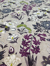 Designer Guild - Lotus Flower - Charcoal - 3.2m