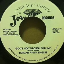 HERMAN FINLEY SINGERS God's Not Through With Me/Get Right Today 45 Black Gospel