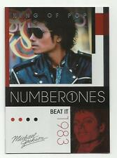 2011 Panini Michael Jackson King Of Pop Number Ones Platinum #182 (BEAT IT)