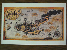 "Disney Pirate's Lair on Tom Sawyer Island Map Glossy Poster  - 11"" x 17"""