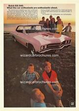 1967 BUICK GS 340 A3 POSTER AD SALES BROCHURE ADVERTISEMENT ADVERT