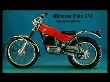 MONTESA COTA 172 OPERATIONS & PARTS MANUAL 100pg for Motorcycle Service & Repair