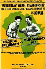 "MUHAMMAD ALI vs GEORGE FOREMAN  11""X14""  BOXING POSTER"