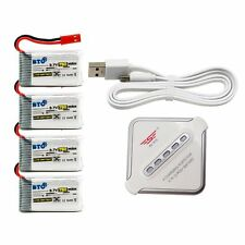 750mAh Battery & X4 JST Charger F HS110W HS200W Drone Sky Viper S670 Drone Part