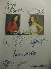 Rizzoli & Isles Signed TV Script X9 Angie Harmon Sasha Alexander Bruce McGill rp