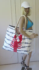 NWT Designer Large Oversized Reversible Nautical Beach Bag Pool Tote Donna Dixon