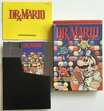 VINTAGE NINTENDO NES DR. MARIO GAME COMPLETE IN THE ORIGINAL BOX WITH BOOKLET